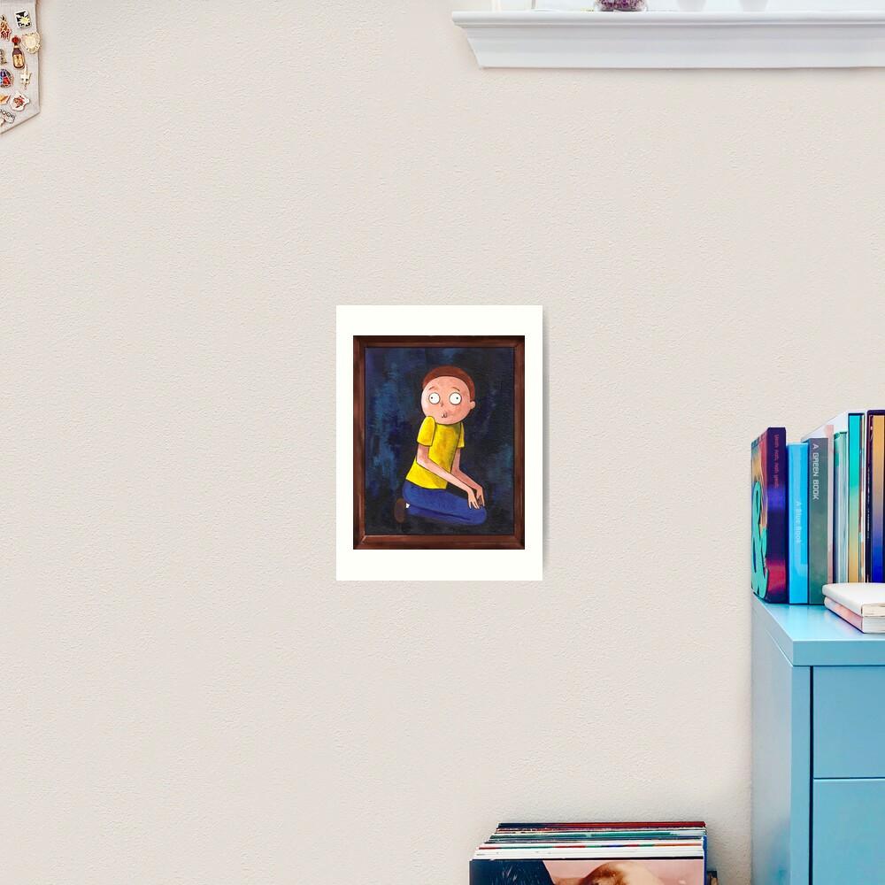 The Creepy Morty Painting Art Print