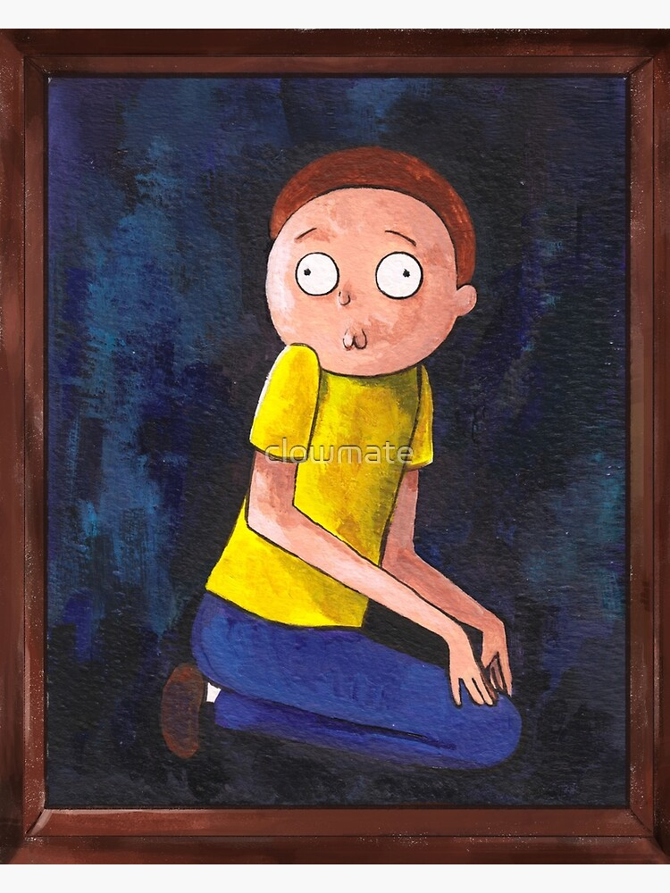 The Creepy Morty Painting by clowmate