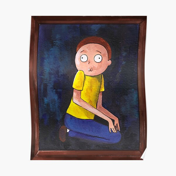 The Creepy Morty Painting Poster