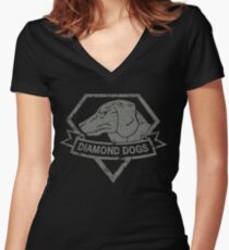 Diamond Women's Fitted V-Neck T-Shirt