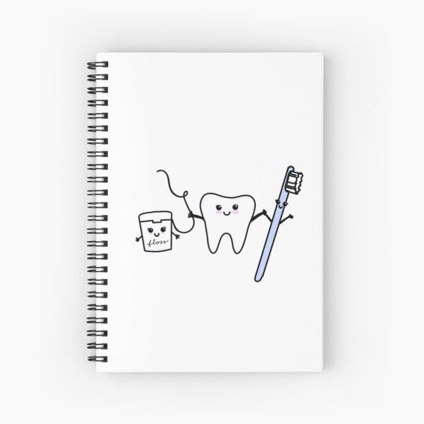 happy tooth & friends Spiral Notebook