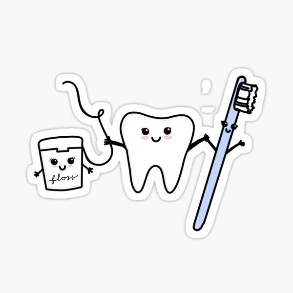 happy tooth & friends Sticker