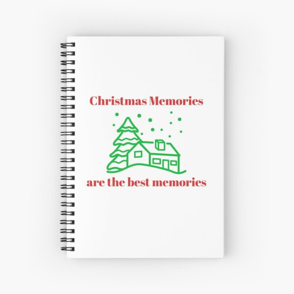 Christmas At Home Memories Spiral Notebook