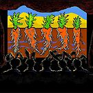 """Rabbit Home Theatre: """"Our Favorite Show is ROOTS"""" by paintingsheep"""