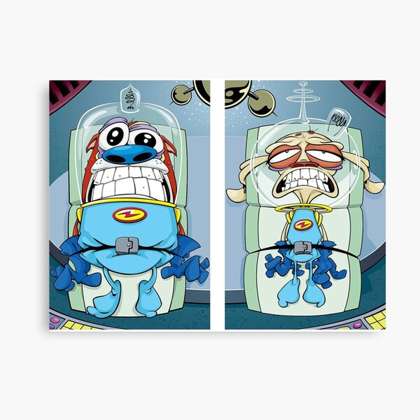 space madness ren and stimpy Canvas Print