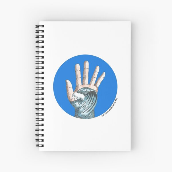Hand Wave Spiral Notebook