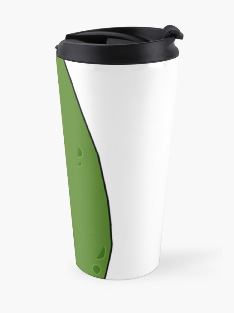 Alternate view of Cute Pickle Rick Travel Mug
