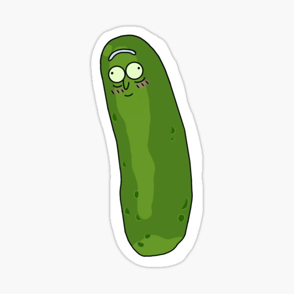 Cute Pickle Rick Sticker