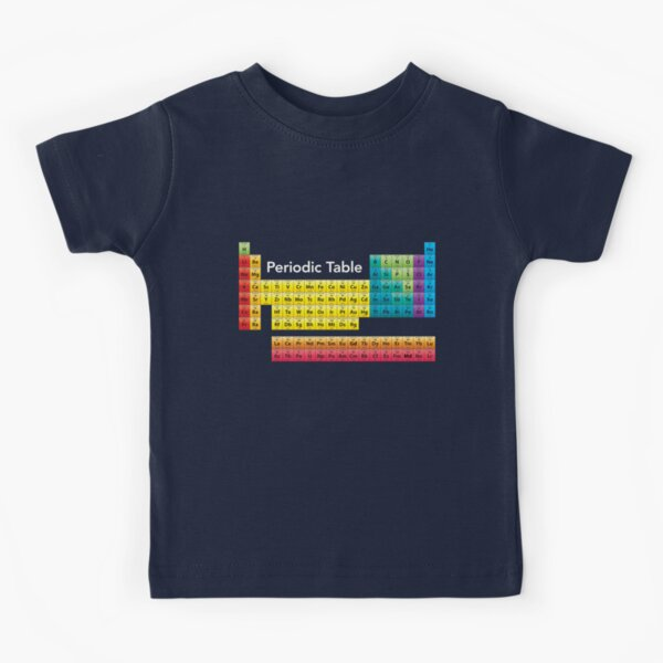 Chemical Periodic Table Kids T-Shirt