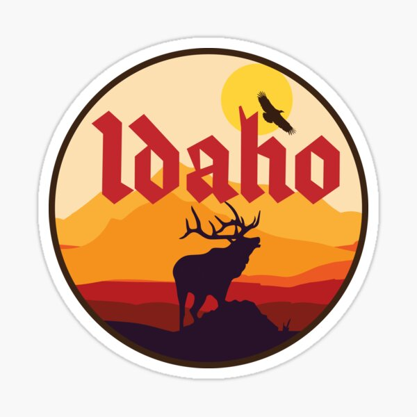 Idaho Elk Sticker