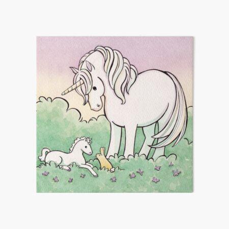 Baby Unicorn Art Board Print