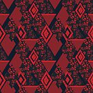 Red and black, patchwork, red patchwork, patches by fuzzyfox