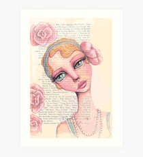 Flapper Girl Art Print