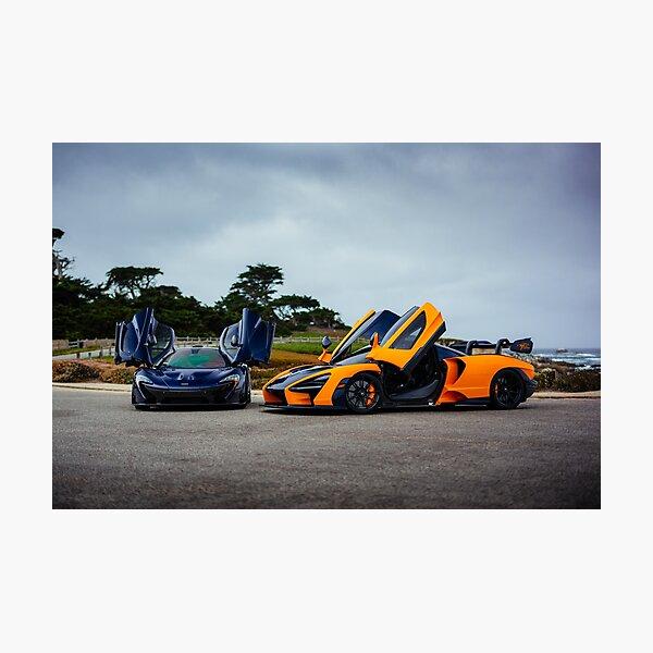 McLaren Senna and P1 Photographic Print