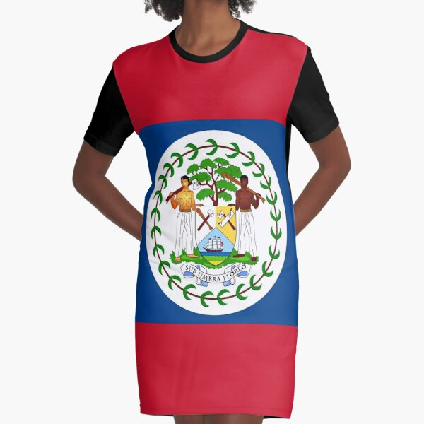 Belize flag  Graphic T-Shirt Dress