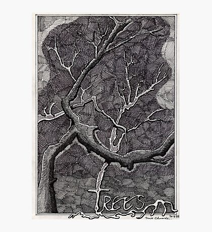 160 - TREES - DAVE EDWARDS - INK - 1988 Photographic Print