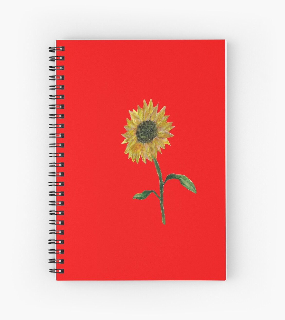 Hand-painted Sunflower notebook