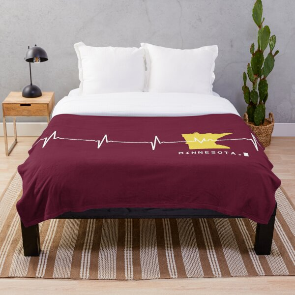 Heartbeat Minnesota Throw Blanket