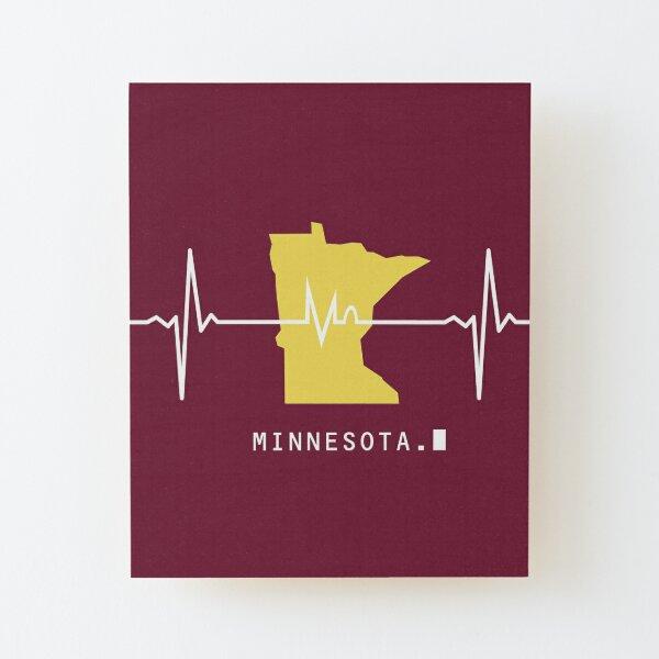 Heartbeat Minnesota Wood Mounted Print