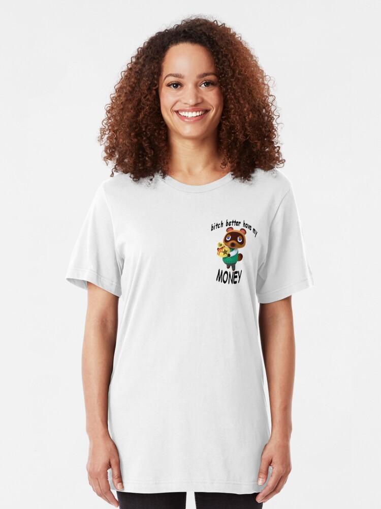 Tom Nook Show Me The Money Womens T-Shirt