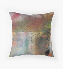 Discarded Art.. orange mood Throw Pillow
