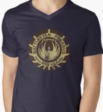 Battlestar Pegasus Men's V-Neck T-Shirt