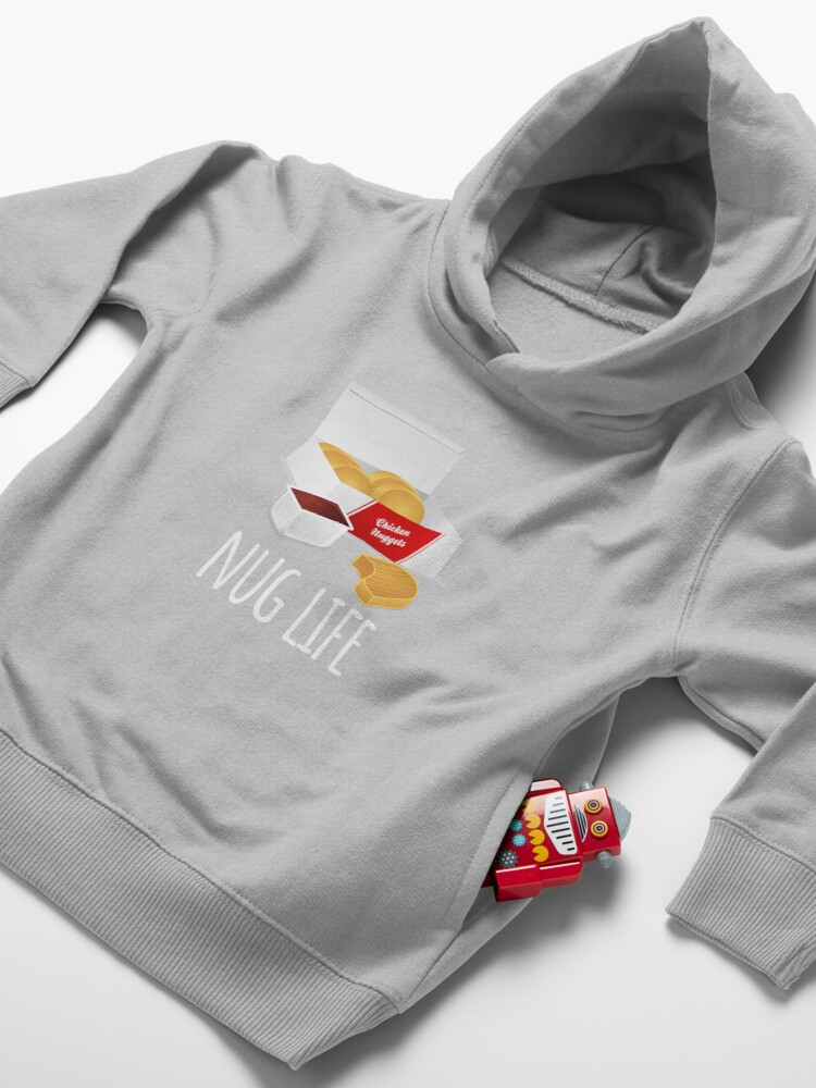 Alternate view of Nug Life - Chicken Nuggets Toddler Pullover Hoodie