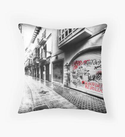 Old Town Palma Streets Throw Pillow