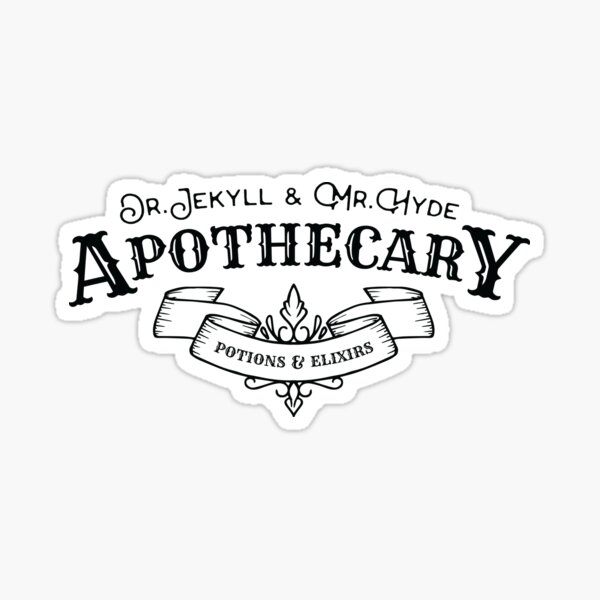 Jekyll and Hyde Apothecary Sticker