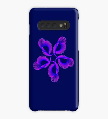 Spiral Pink Blue Abstract Flowers Case/Skin for Samsung Galaxy