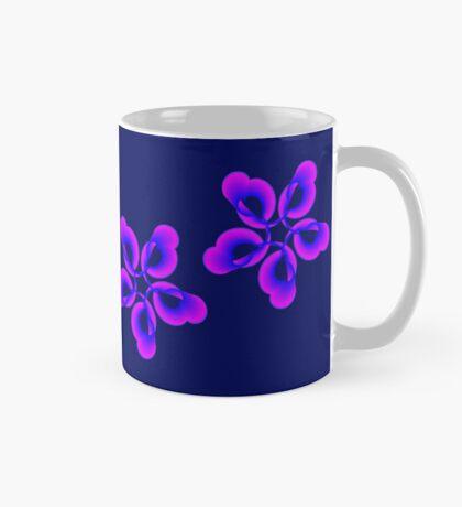 Spiral Pink Blue Abstract Flowers Mug