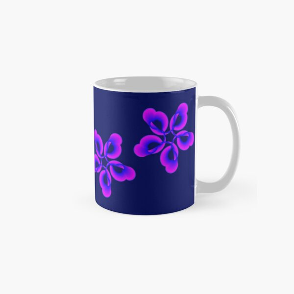 Spiral Pink Blue Abstract Flowers Classic Mug