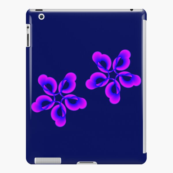 Spiral Pink Blue Abstract Flowers iPad Snap Case