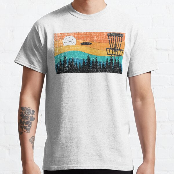 Vintage Retro Frisbee Disc Golf Frolf Stupid Tree Forest Classic T-Shirt