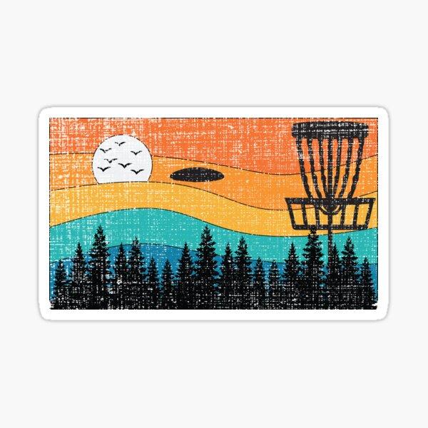 Vintage Retro Frisbee Disc Golf Frolf Stupid Tree Forest Sticker