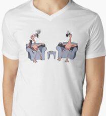 Boston Legal Flamingos  Men's V-Neck T-Shirt