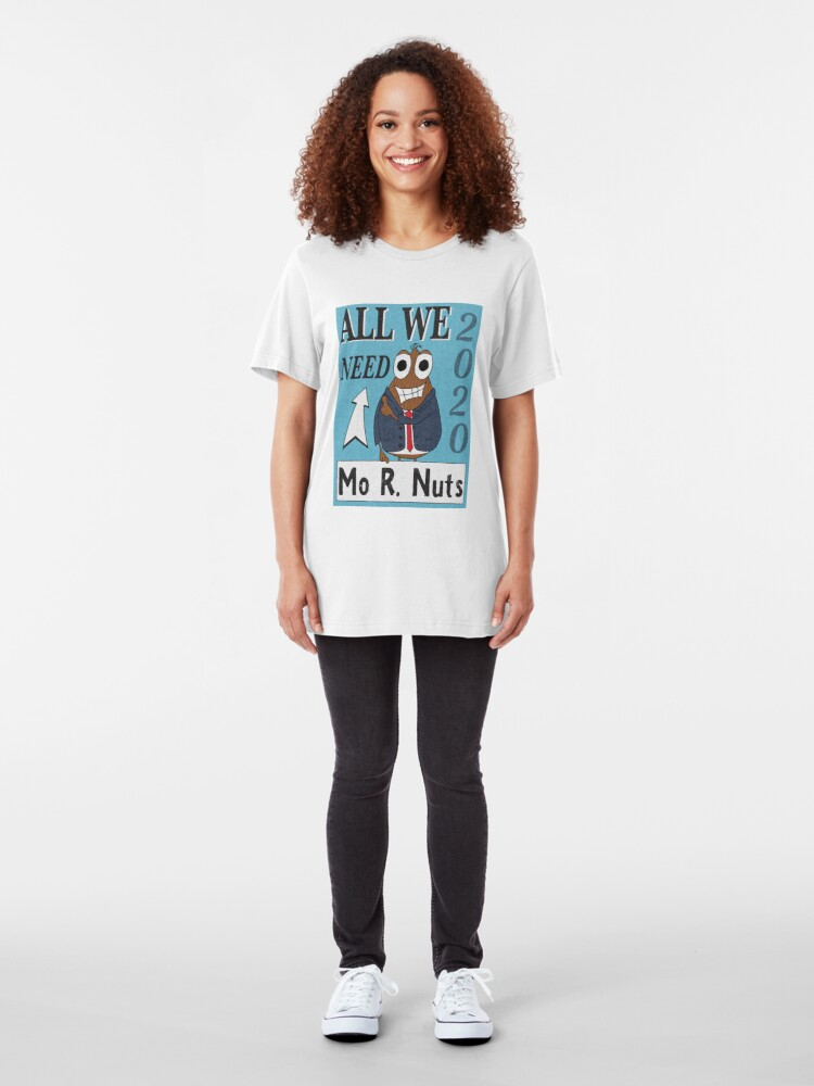 Alternate view of Mo. R Nuts Please Slim Fit T-Shirt