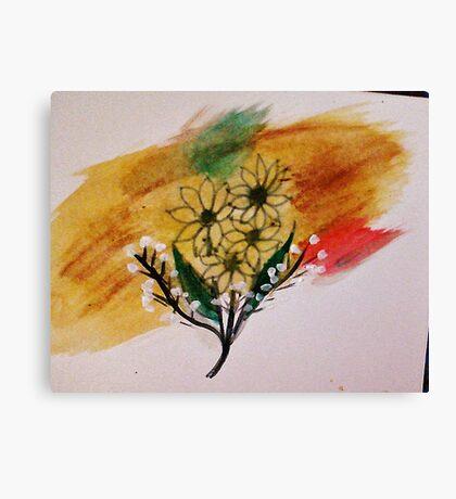 Bouquet of Sunflowers, watercolor Canvas Print
