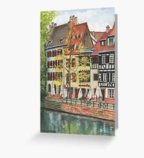 Strasbourg Canal Houses Greeting Card