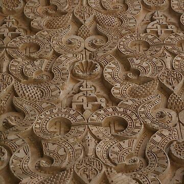 Ben Youssef Medressa wall decoration, Marrakech  by becca305