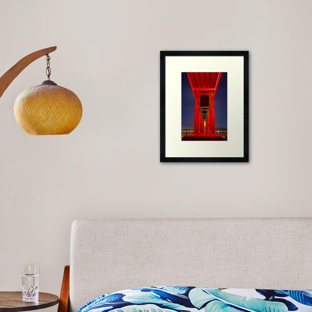 Red Tasman Framed Art Print