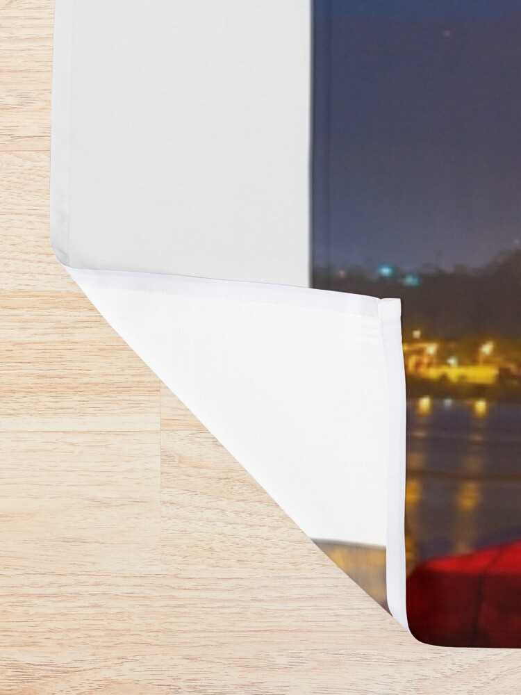 Alternate view of Red Tasman Shower Curtain
