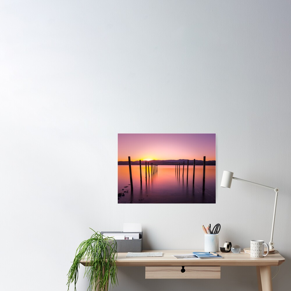 Sunset at Howden Poster