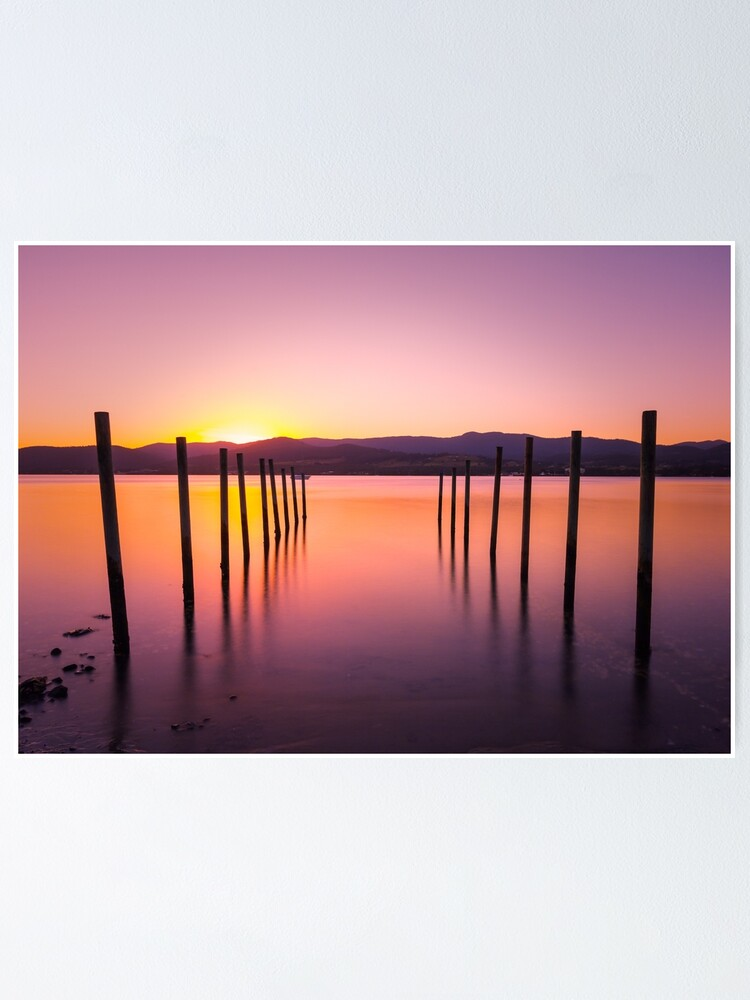 Alternate view of Sunset at Howden Poster