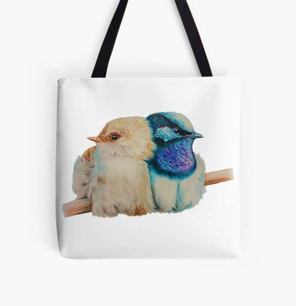 Superb Blue Fairy-wrens All Over Print Tote Bag