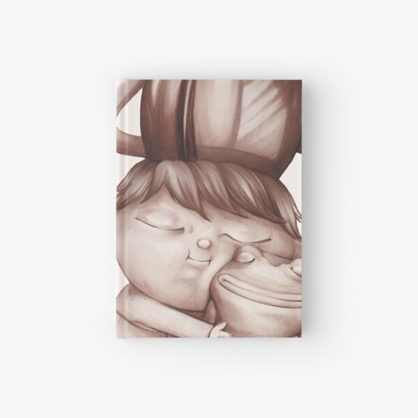Greg cuddling his frog - Over the Garden Wall fan art by Lavinia Knight / art official sweetener  Hardcover Journal