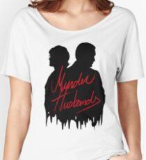 Murder Husbands [Schwarz / Rot] Loose Fit T-Shirt