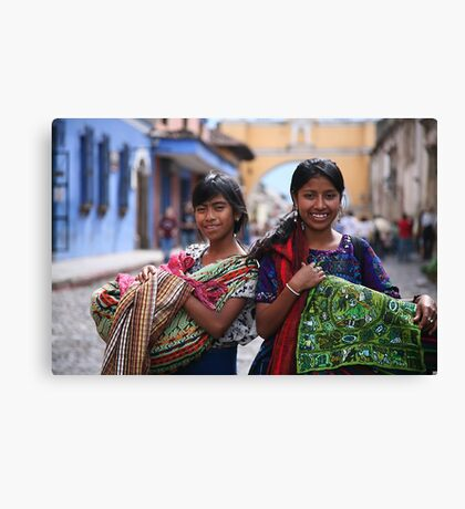 Selling Wares Canvas Print
