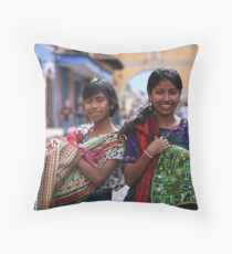Selling Wares Throw Pillow