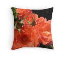 Orange Array Throw Pillow